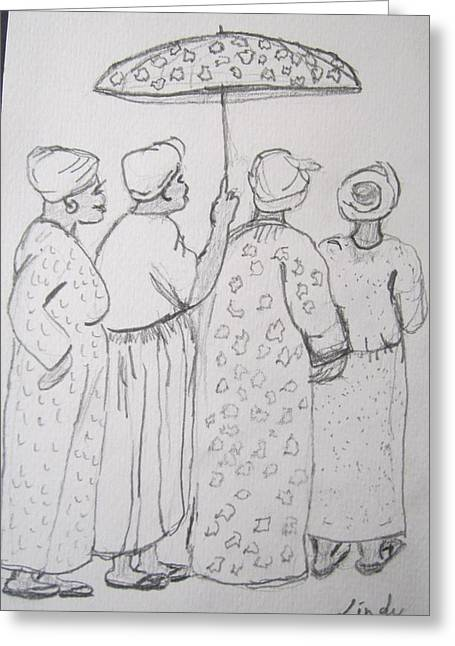 Shango Greeting Cards - Baptist Ladies Greeting Card by Jennylynd James