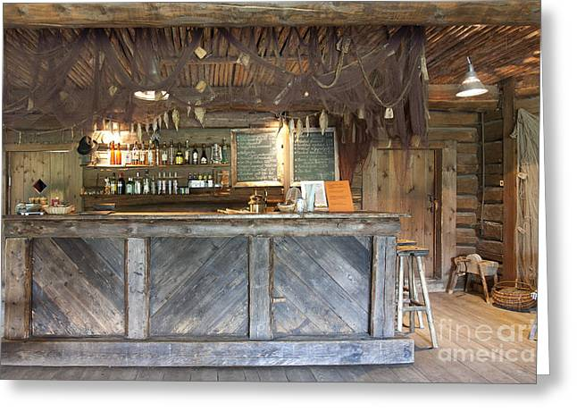 Menu Greeting Cards - Bar With a Rustic Decor Greeting Card by Jaak Nilson