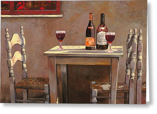 Table Greeting Cards - Barbaresco Greeting Card by Guido Borelli