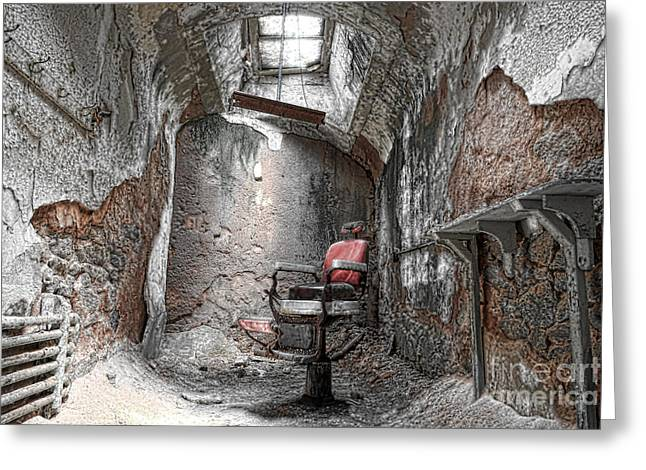 Eastern State Greeting Cards - Barber - Chair - Eastern State Penitentiary Greeting Card by Paul Ward