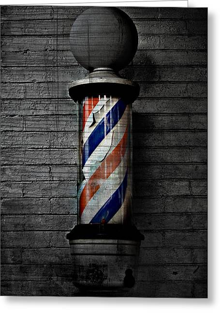 Most Photographs Greeting Cards - Barber Pole Blues  Greeting Card by Jerry Cordeiro
