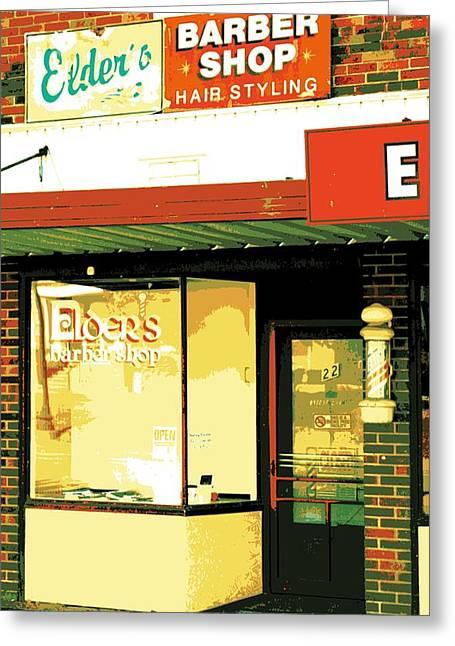 Screen Doors Greeting Cards - Barber Shop Greeting Card by Sheri Parris