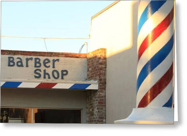 Barber Shop Greeting Card by Troy Montemayor