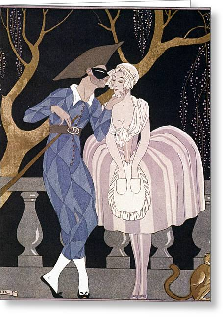 Ball Gown Greeting Cards - Barbier: Artful Servant Greeting Card by Granger