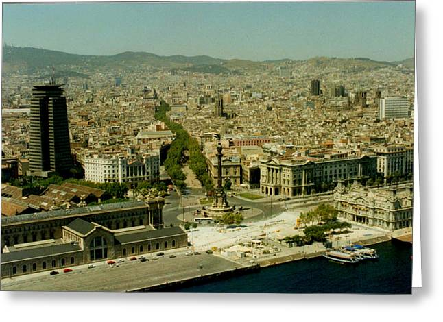 Barceloneta Greeting Cards - Barcelona  Greeting Card by Christopher Kirby