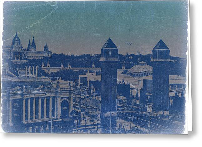 Beautiful Cities Greeting Cards - Barcelona Greeting Card by Naxart Studio