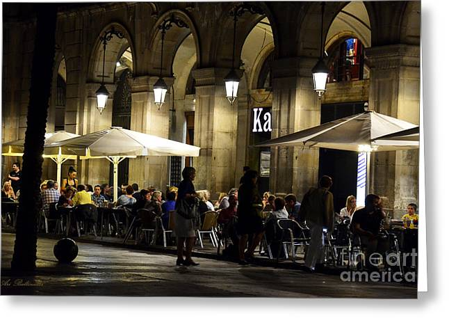 Color Photography Greeting Cards - Barcelona Nights 03 Greeting Card by Arik Baltinester