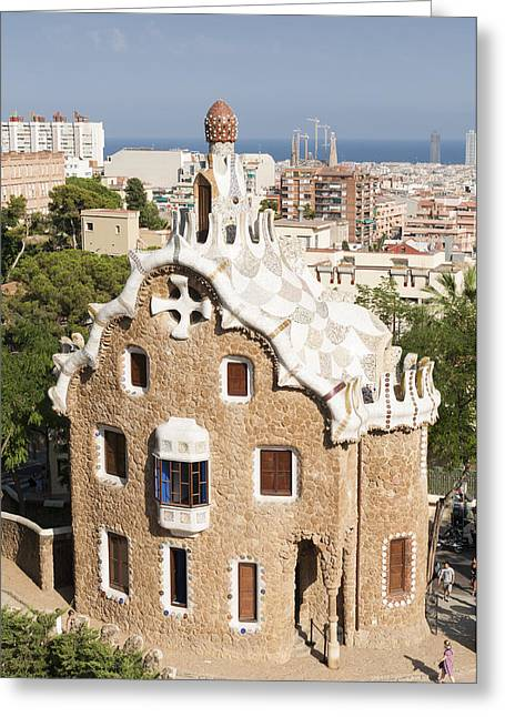 Catalunya Photographs Greeting Cards - Barcelona Parc Guell Greeting Card by Matthias Hauser