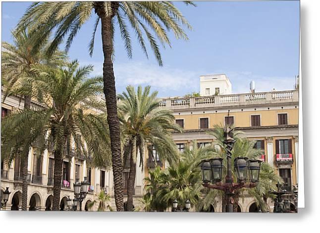 Barcelona Placa Reial Greeting Card by Matthias Hauser