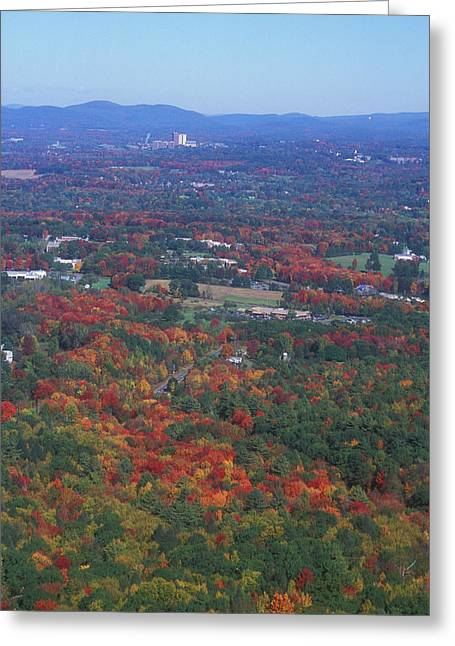 """autumn Foliage New England"" Greeting Cards - Bare Mountain Foliage View Greeting Card by John Burk"