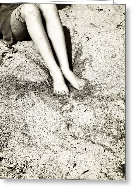 Sandy Beaches Greeting Cards - Barefoot In The Sand Greeting Card by Joana Kruse