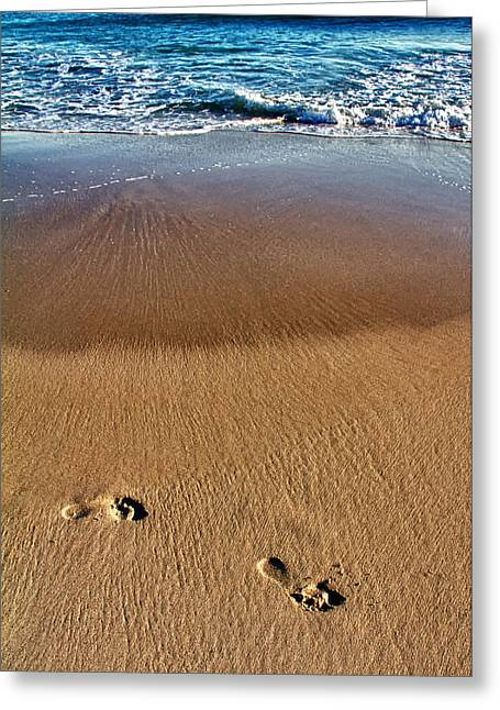 Footsteps Greeting Cards - Barefoot Greeting Card by Stylianos Kleanthous