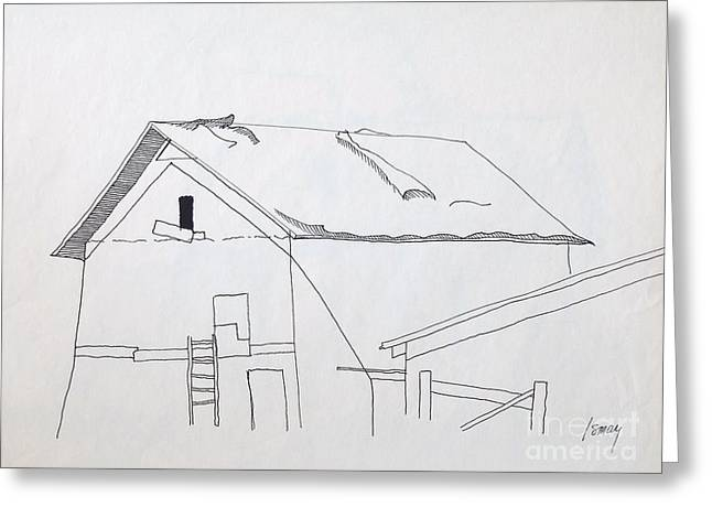 Barn Pen And Ink Greeting Cards - Barn 2 Greeting Card by Rod Ismay