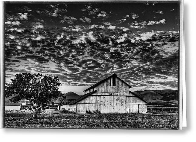 Barn At Sunset Greeting Card by Beth Sargent