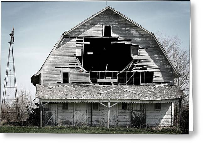 Indiana Farms Greeting Cards - Barn Bustin Greeting Card by Shane Rees