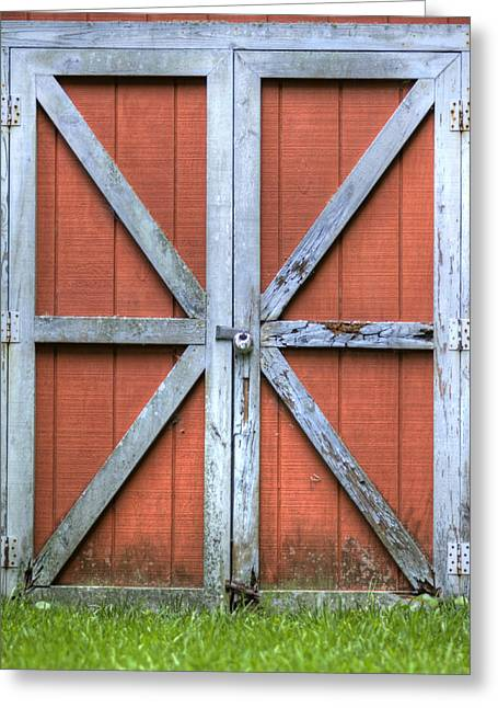 Charleston Greeting Cards - Barn Door 3 Greeting Card by Dustin K Ryan