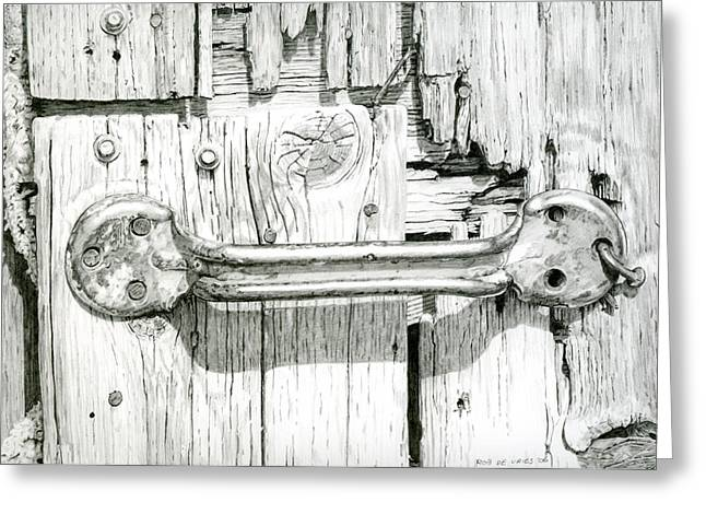 Photorealism Greeting Cards - Barn door Greeting Card by Rob De Vries