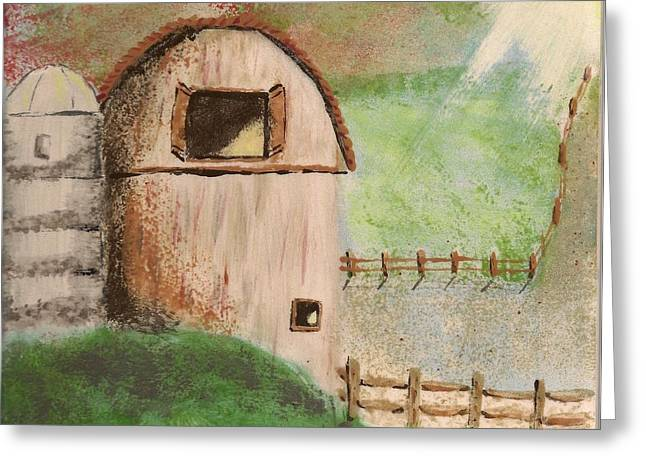 Barn Greeting Card by Gail Schmiedlin