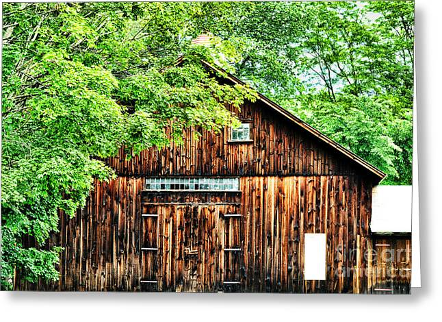 Deerfield Greeting Cards - Barn Greeting Card by HD Connelly