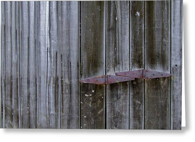 Franklin Tennessee Farm Greeting Cards - Barn Hinge Greeting Card by Richard Gregurich