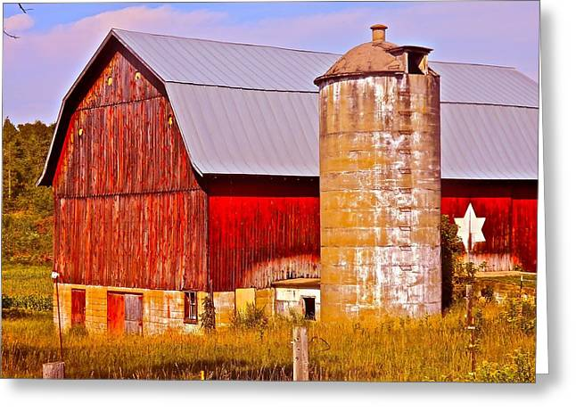 Barn And Silo Greeting Cards - Barn In America Greeting Card by Randy Rosenberger
