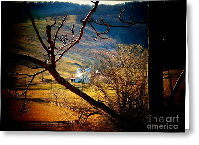 Virginia Landscape Greeting Cards - Barn in Paris Greeting Card by Joyce Kimble Smith
