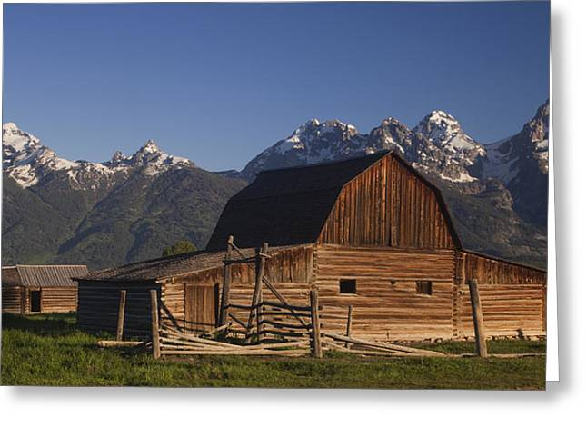 Tetons Greeting Cards - Barn in the Tetons Greeting Card by Andrew Soundarajan