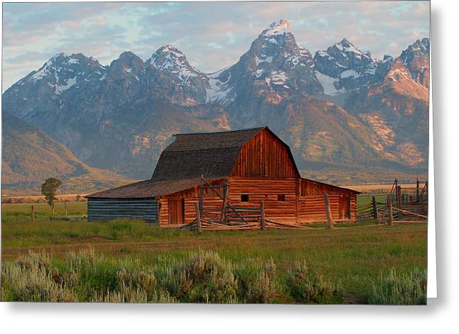Barn Digital Art Greeting Cards - Barn on Mormon Row Wyoming Greeting Card by Vijay Sharon Govender