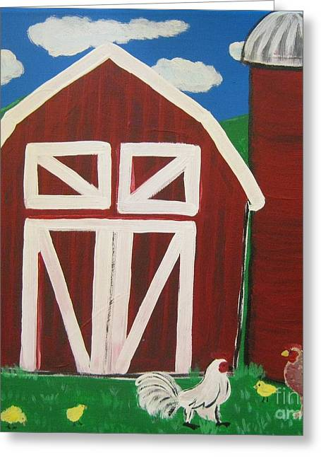 Barn Yard Greeting Cards - Barn on the Farm Greeting Card by Eva  Dunham