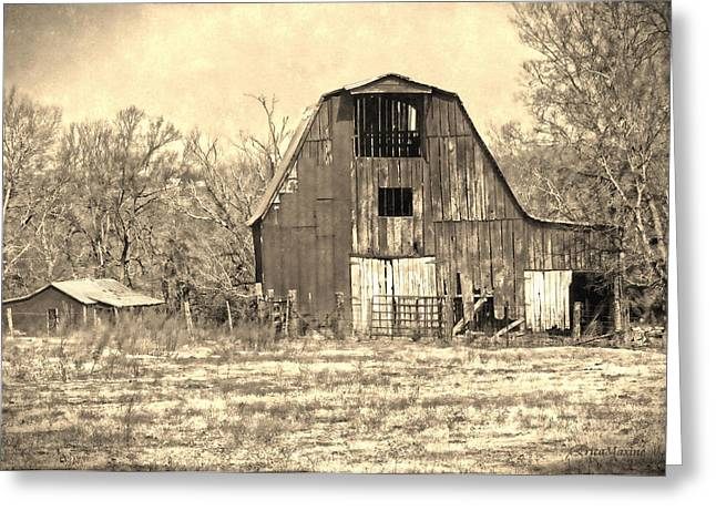 Barn-sepia Greeting Card by EricaMaxine  Price