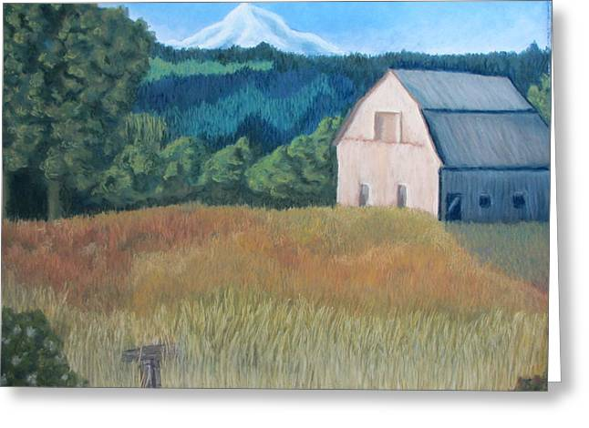 Oregon Pastels Greeting Cards - Barn series 1 Greeting Card by Molly Gochenour