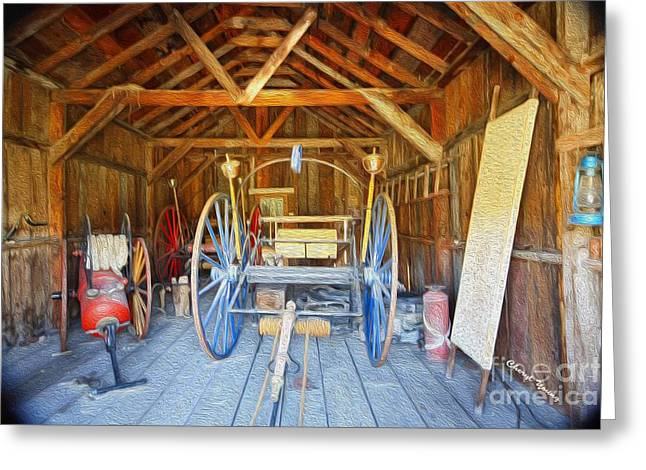 Barn Treasures 2 Greeting Card by Cheryl Young