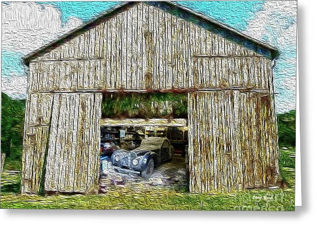 Barn Treasures Greeting Card by Cheryl Young