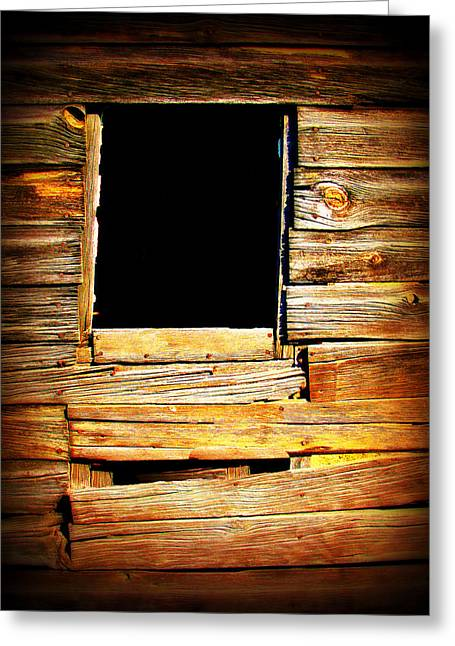 """square Art"" Photographs Greeting Cards - Barn Window Greeting Card by Perry Webster"