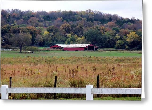 Barn Yard Fences Greeting Card by Kay Sawyer