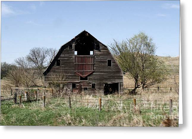 """oldest Wood Building"" Greeting Cards - Barn Greeting Card by Yumi Johnson"
