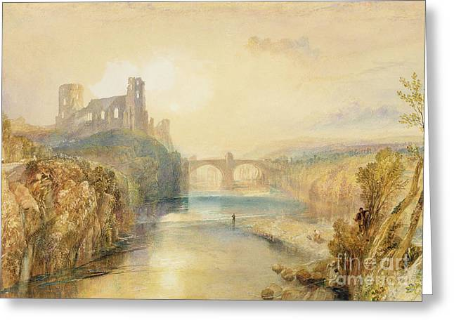 Tree Outside Greeting Cards - Barnard Castle  Greeting Card by Joseph Mallord William Turner