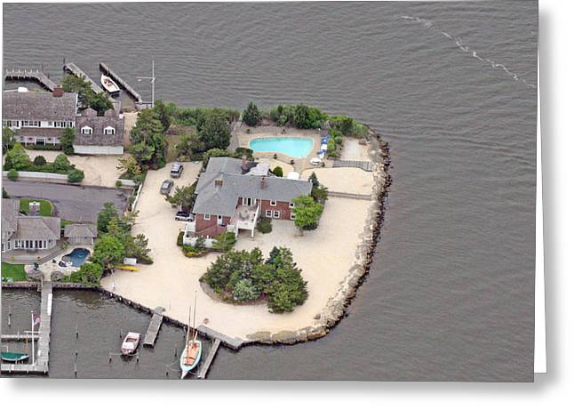 Pearson Aerial Greeting Cards - Barnegat Bay House Mantoloking New Jersey Greeting Card by Duncan Pearson