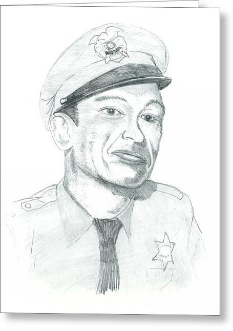 Recently Sold -  - Andy Griffith Show Greeting Cards - Barney fife Greeting Card by Thomas Elliott