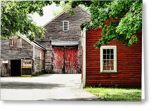 Barn Yard Photographs Greeting Cards - Barns Greeting Card by HD Connelly