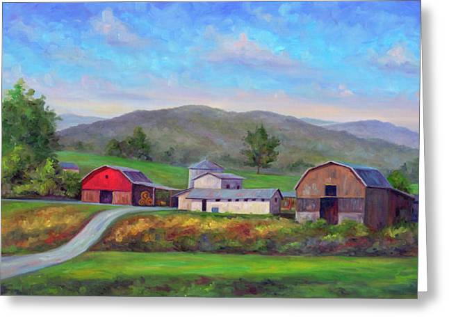 Red Barn Prints Greeting Cards - Barns in Etowah NC Greeting Card by Jeff Pittman