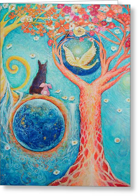 Dream Scape Greeting Cards - Barons Painting Greeting Card by Ashleigh Dyan Bayer