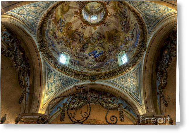Bambers Greeting Cards - Baroque Church in Savoire France 5 Greeting Card by Clare Bambers