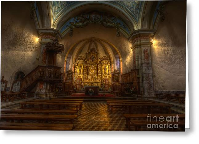 Bambers Greeting Cards - Baroque Church in Savoire France Greeting Card by Clare Bambers