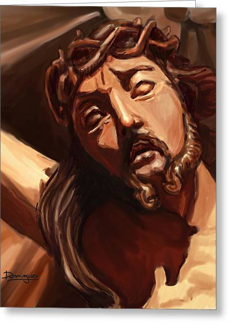 Immaculate Heart Greeting Cards - Baroque jesus Greeting Card by Mario Domingues