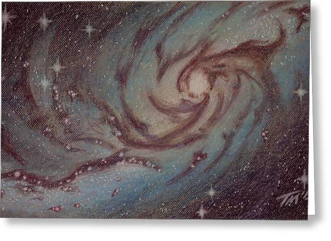 Twinkle Pastels Greeting Cards - Barred Spiral Galaxy NGC 1313 Greeting Card by Thomas Maynard