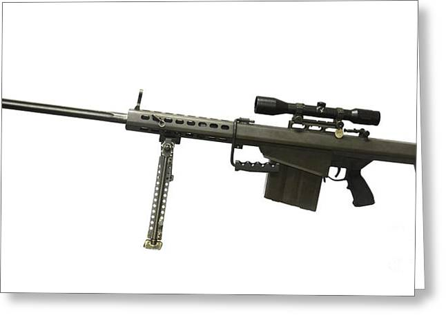 Anti Greeting Cards - Barrett L82a1 Anti-materiel Rifle Greeting Card by Andrew Chittock