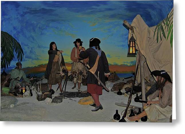 Slaves Photographs Greeting Cards - Barring Buccaneers Greeting Card by DigiArt Diaries by Vicky B Fuller