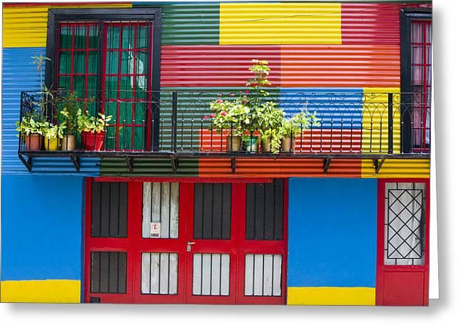 Buenos Aires Greeting Cards - Barriola Bocha Greeting Card by John Galbo