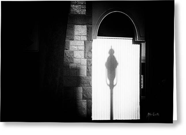 Streetlight Greeting Cards - Barristers Window Greeting Card by Bob Orsillo